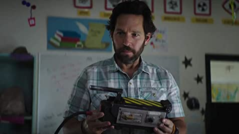Paul Rudd holding ghost trap